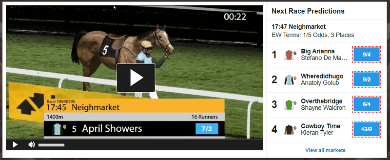 Betfair Virtual horse racing